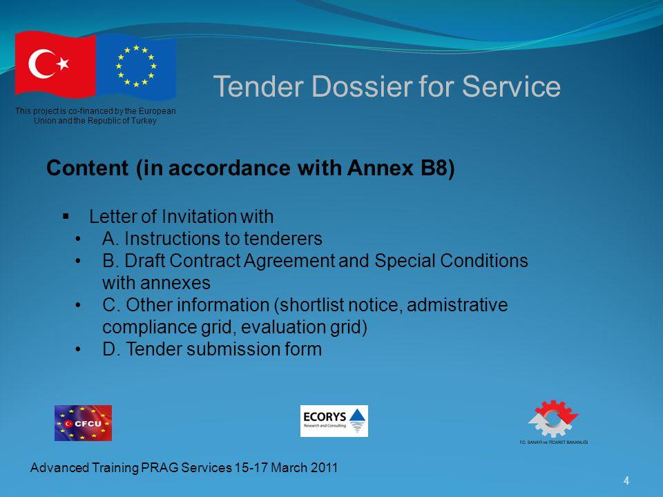 Tender Dossier for Service