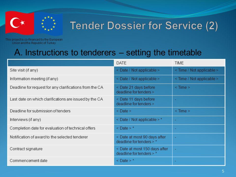 Tender Dossier for Service (2)