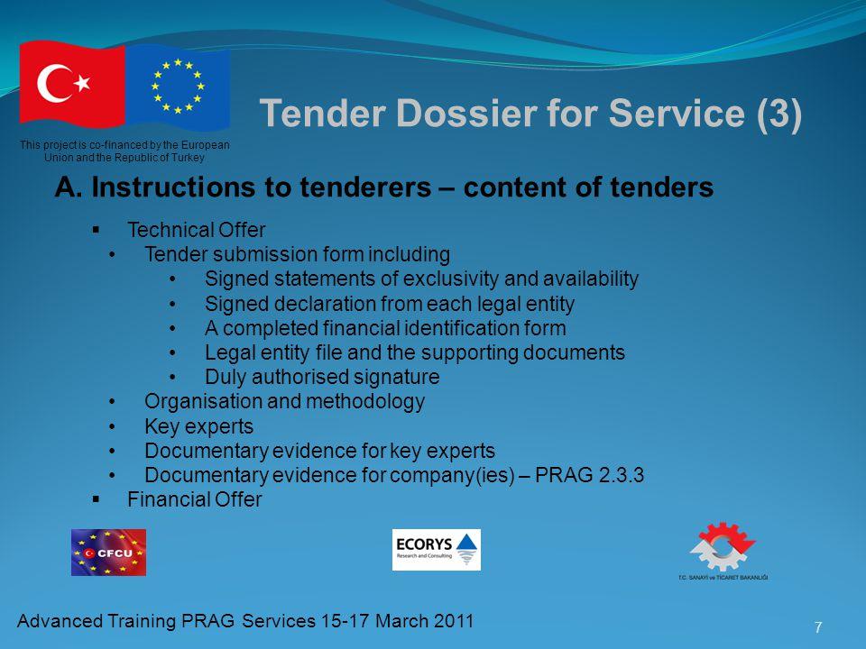 Tender Dossier for Service (3)