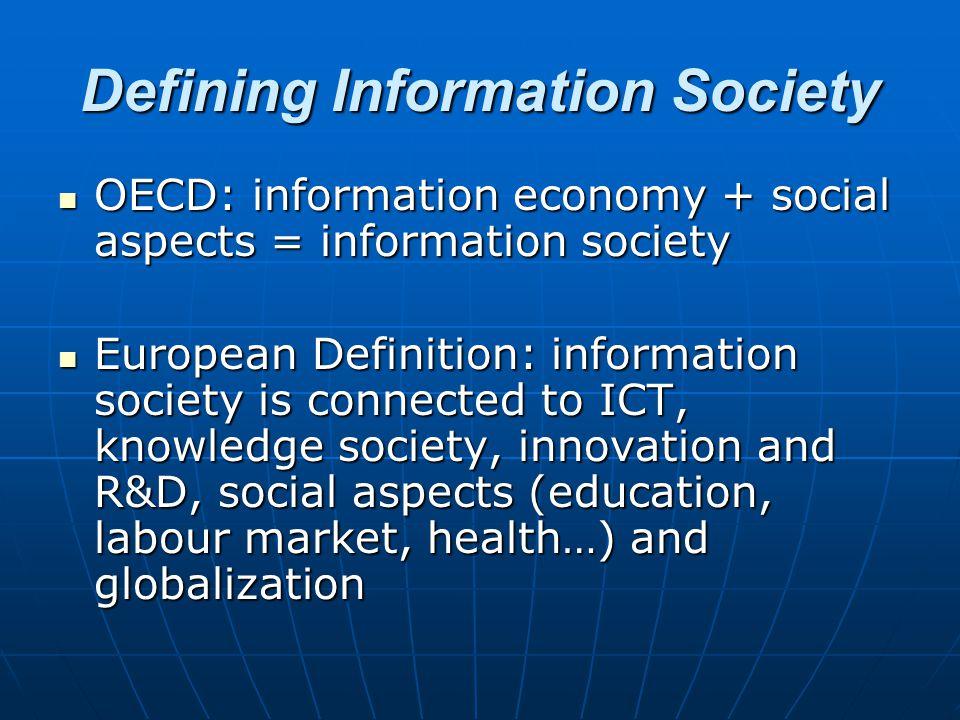 Defining Information Society