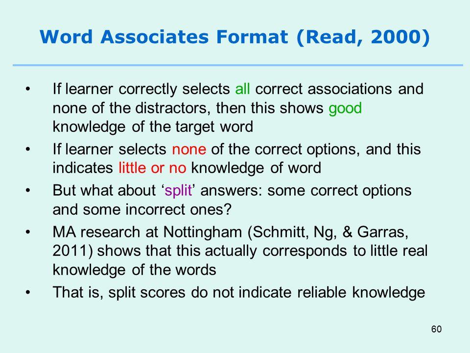Word Associates Format (Read, 2000)