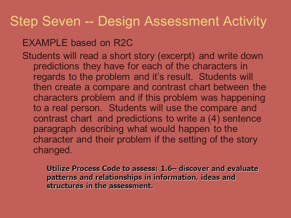 Step Seven -- Design Assessment Activity