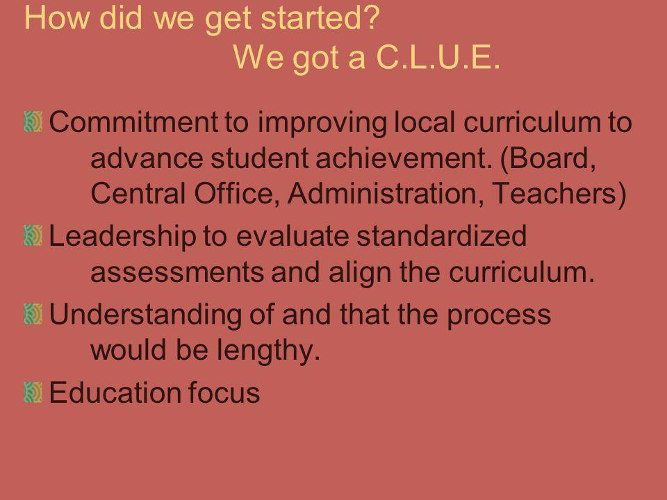 How did we get started We got a C.L.U.E.