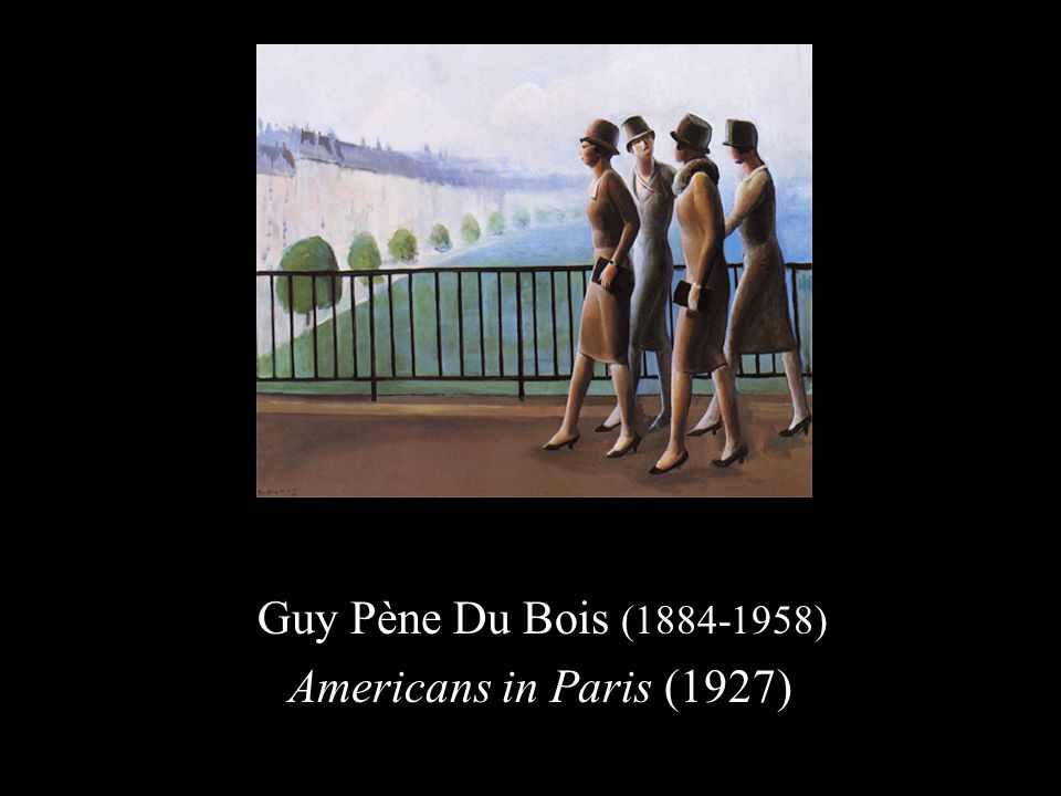 Guy Pène Du Bois (1884-1958) Americans in Paris (1927)