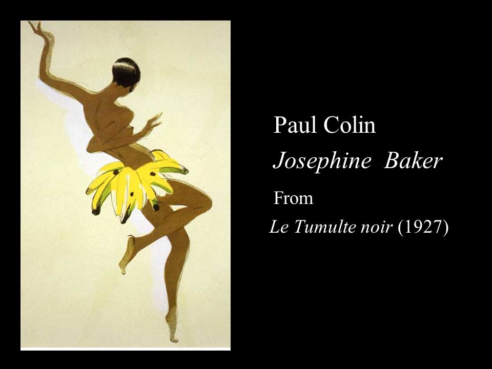 Paul Colin Josephine Baker From Le Tumulte noir (1927)