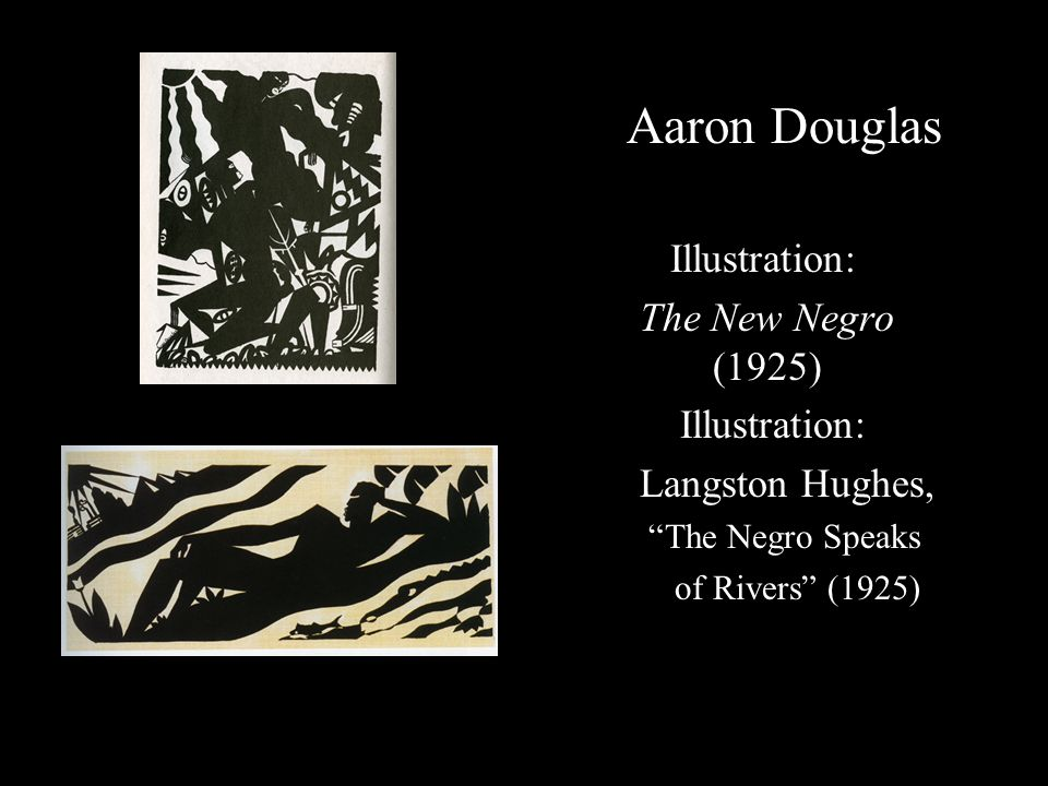 Aaron Douglas Illustration: The New Negro (1925) Langston Hughes,