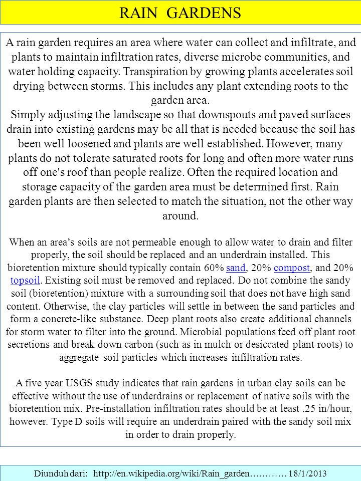 Diunduh dari: http://en.wikipedia.org/wiki/Rain_garden………… 18/1/2013