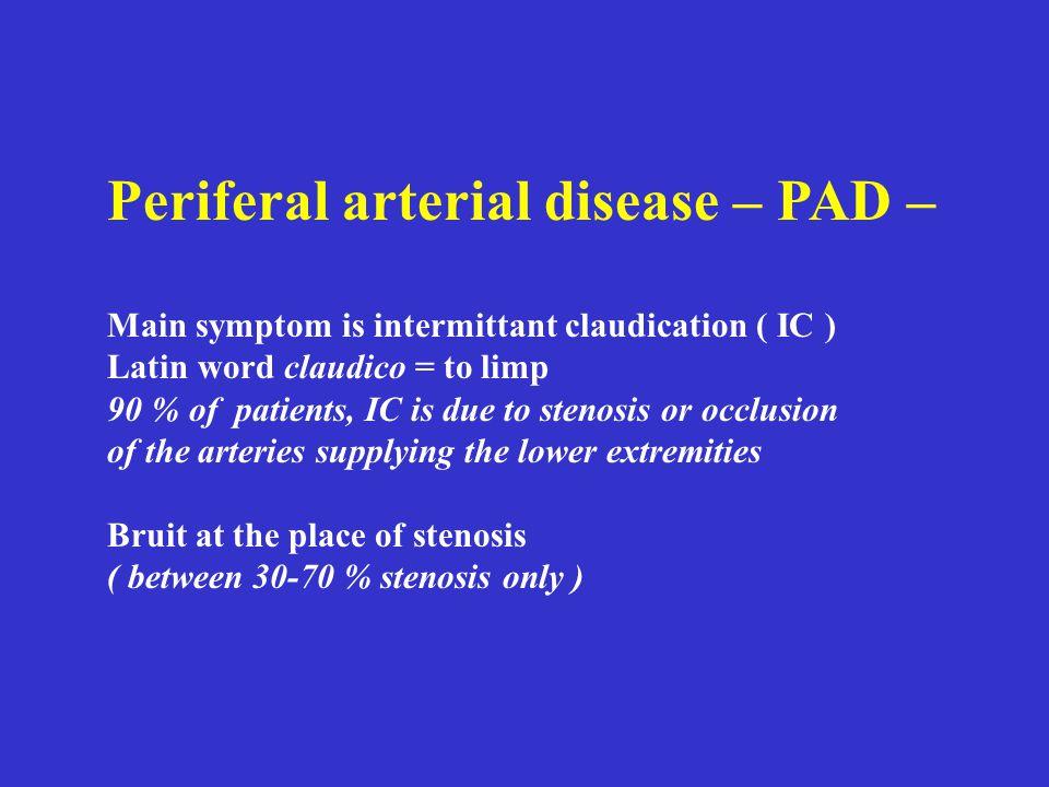 Periferal arterial disease – PAD –