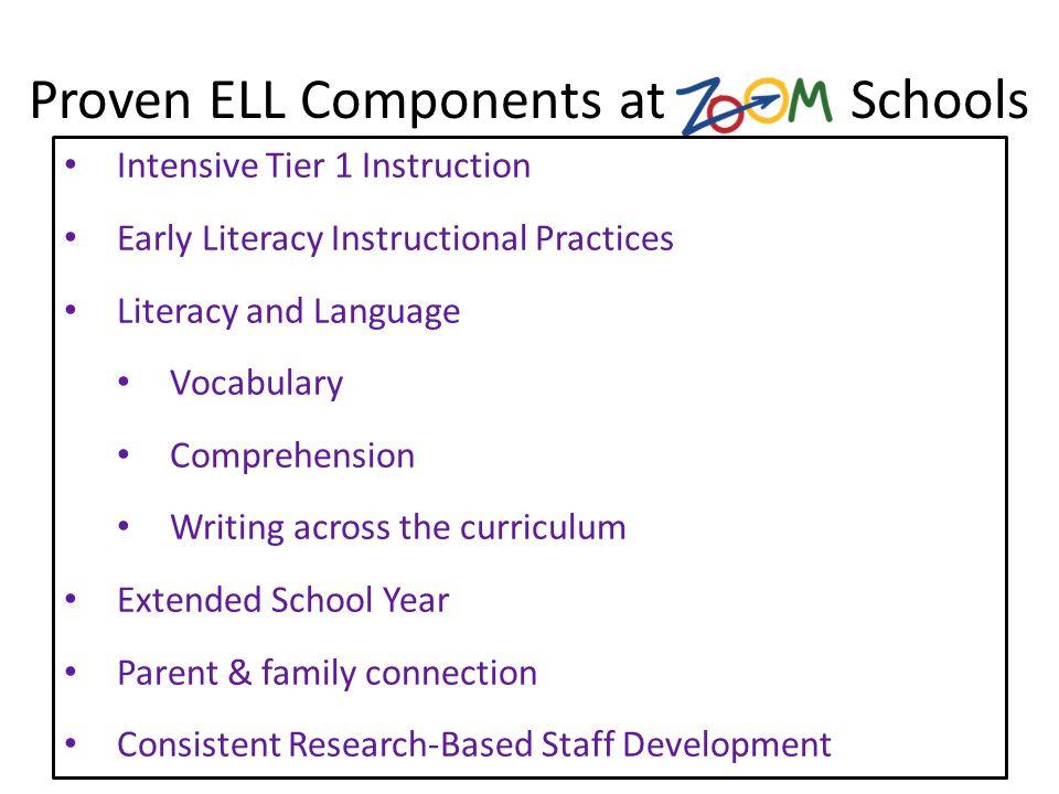 Proven ELL Components at Schools