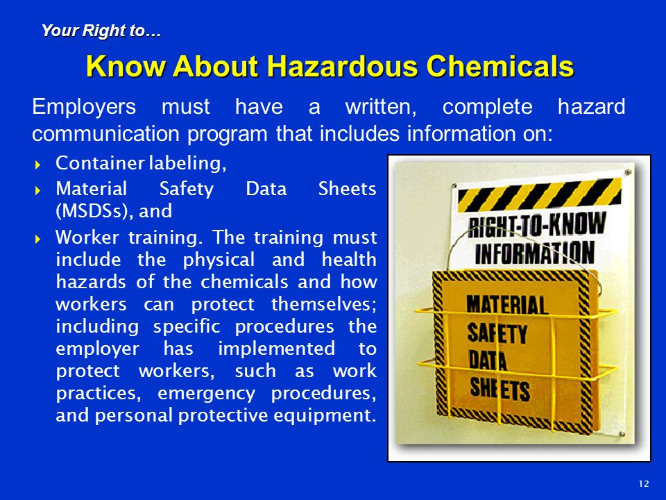 Know About Hazardous Chemicals
