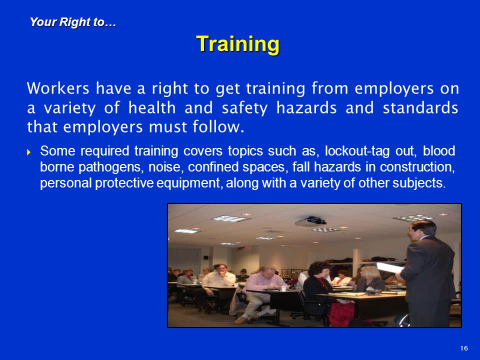Your Right to… Training.