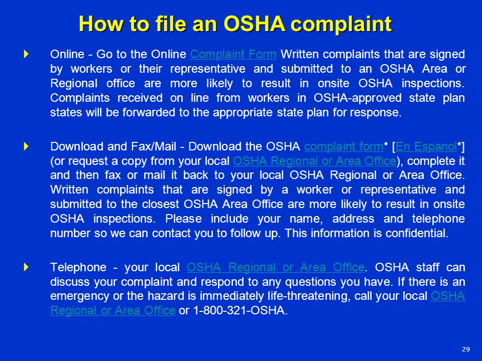 osha lawsuit Employment lawyers help to protect employer  (osha) unpaid overtime wrongful  receive our weekly newsletter with the latest lawsuit news and legal.