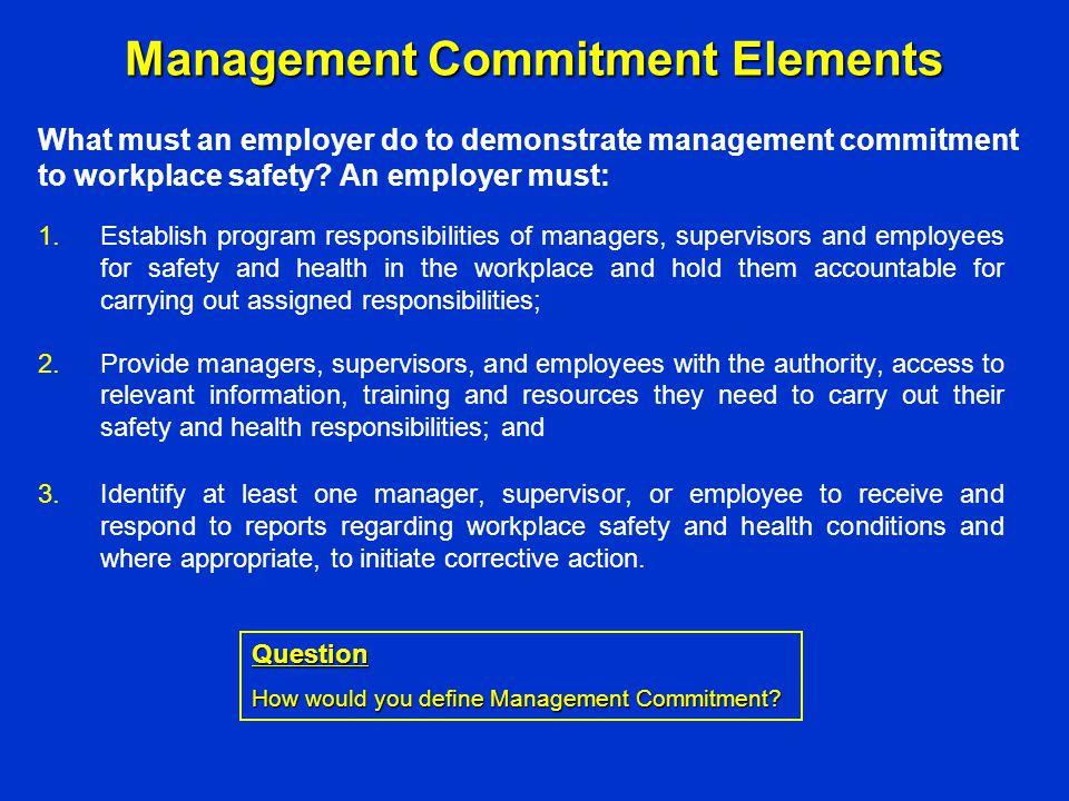 Management Commitment Elements