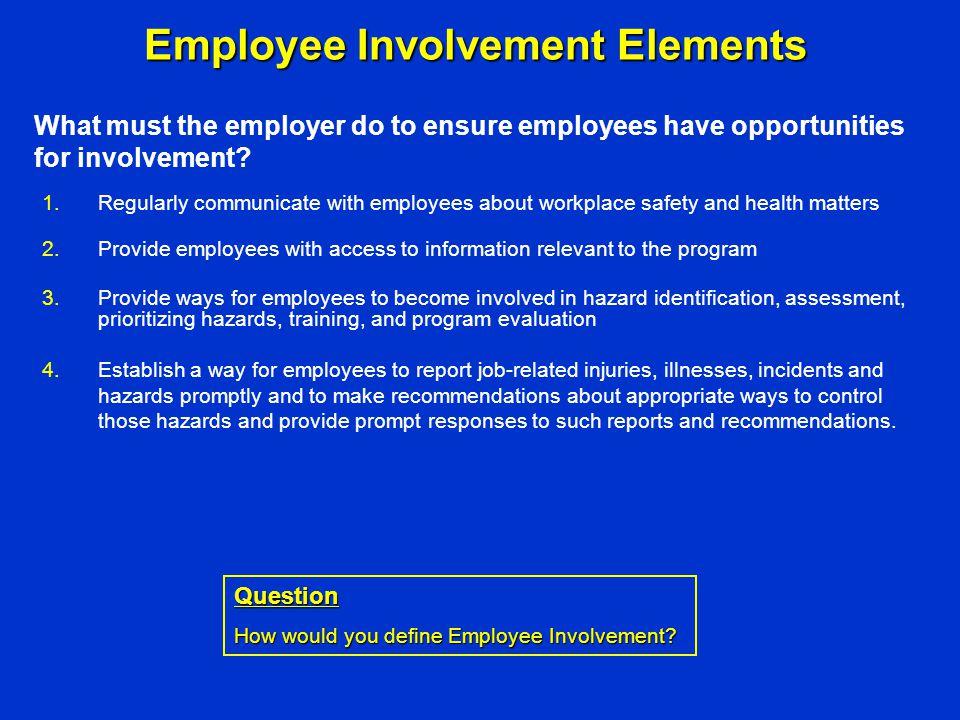 Employee Involvement Elements