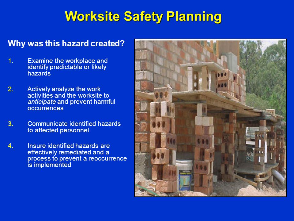 Worksite Safety Planning