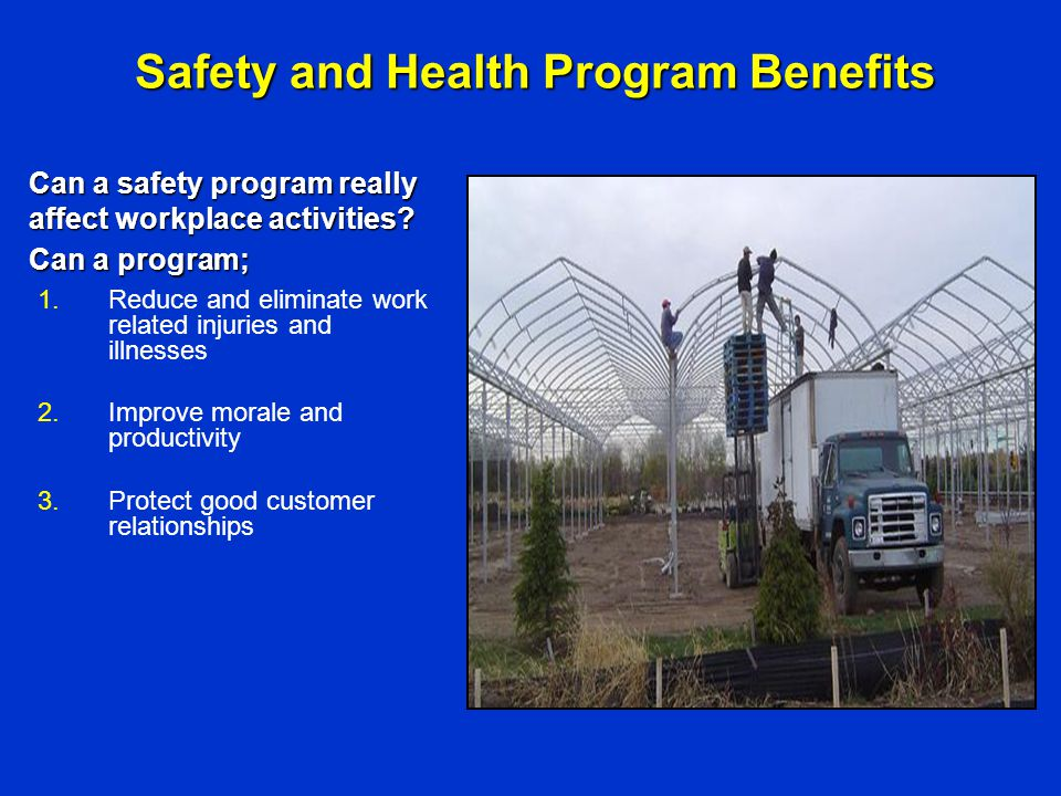 Safety and Health Program Benefits