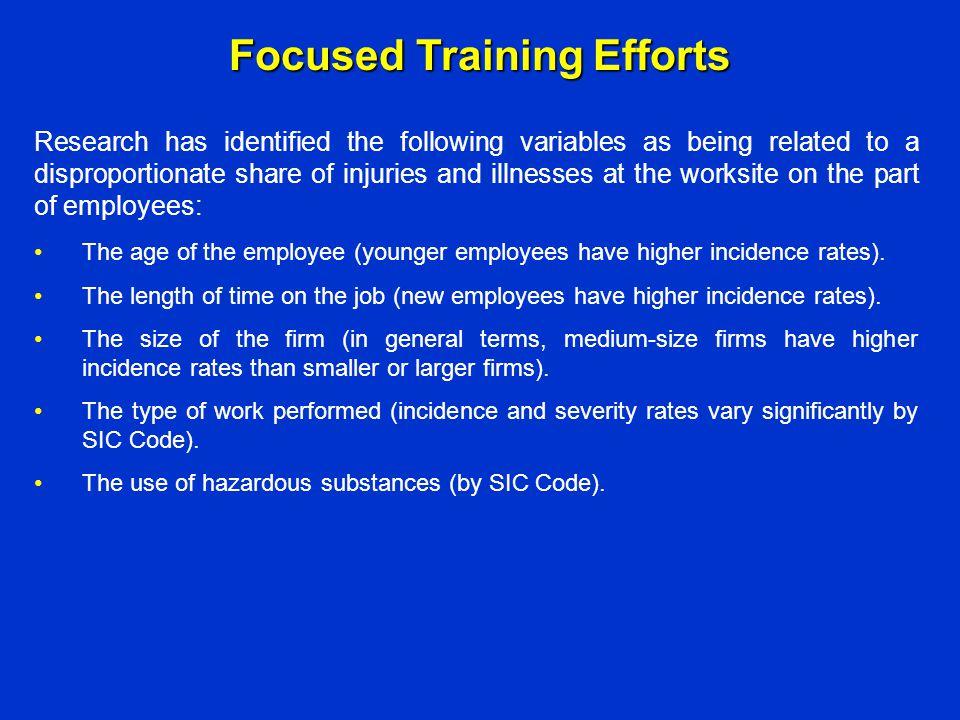 Focused Training Efforts
