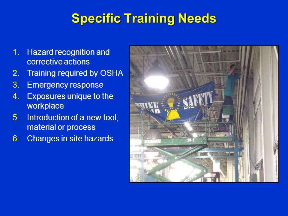 Specific Training Needs