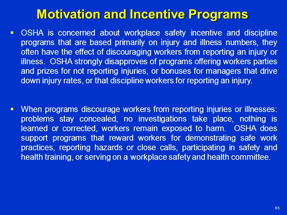 Motivation and Incentive Programs