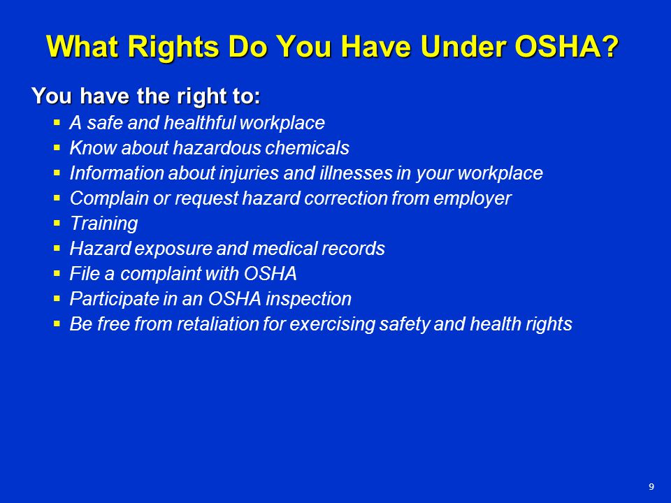 What Rights Do You Have Under OSHA