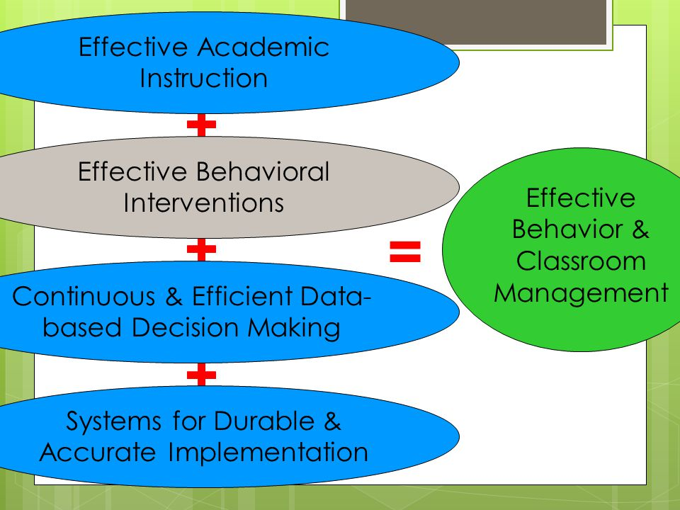 = Effective Academic Instruction Effective Behavioral Interventions