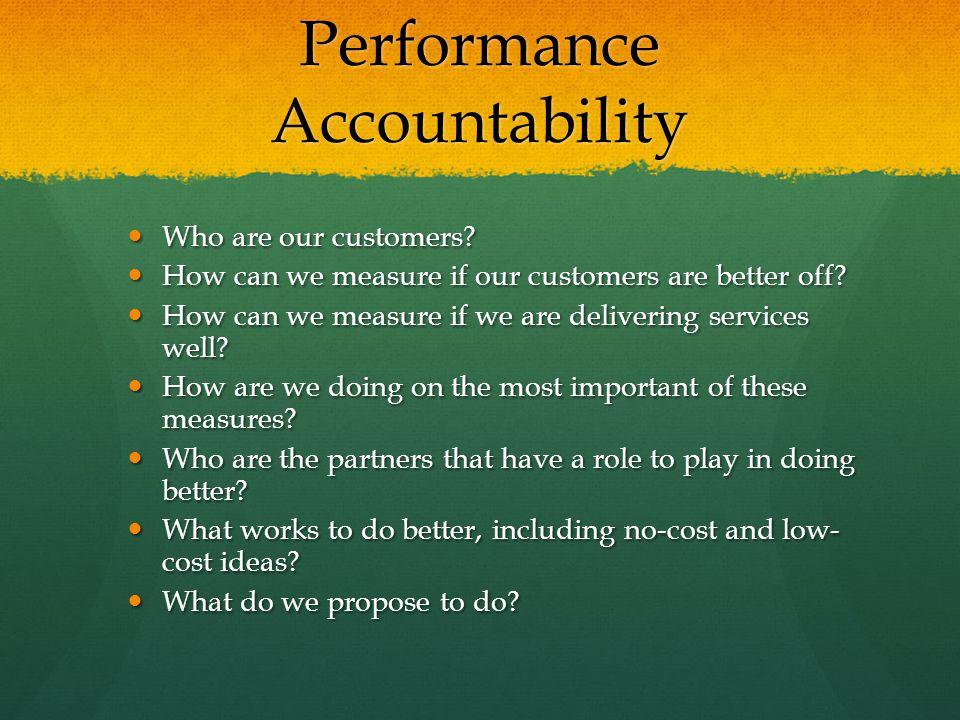 Performance Accountability