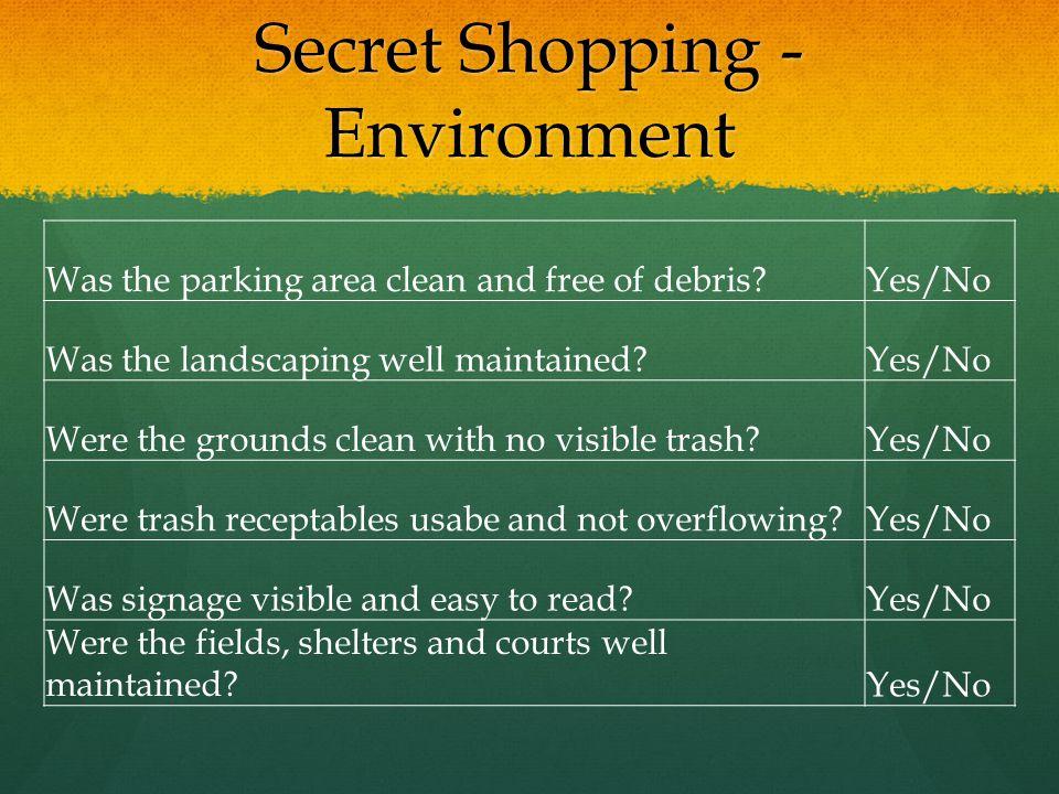 Secret Shopping - Environment