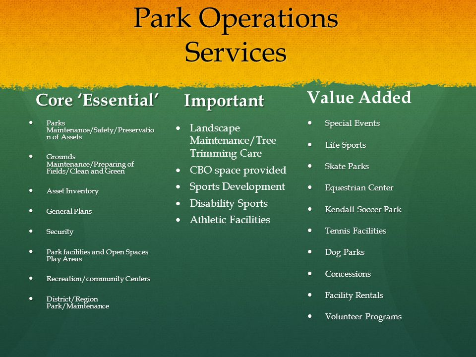 Park Operations Services