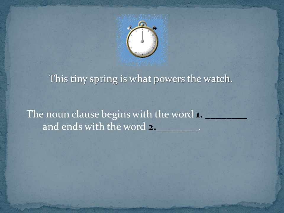 This tiny spring is what powers the watch.
