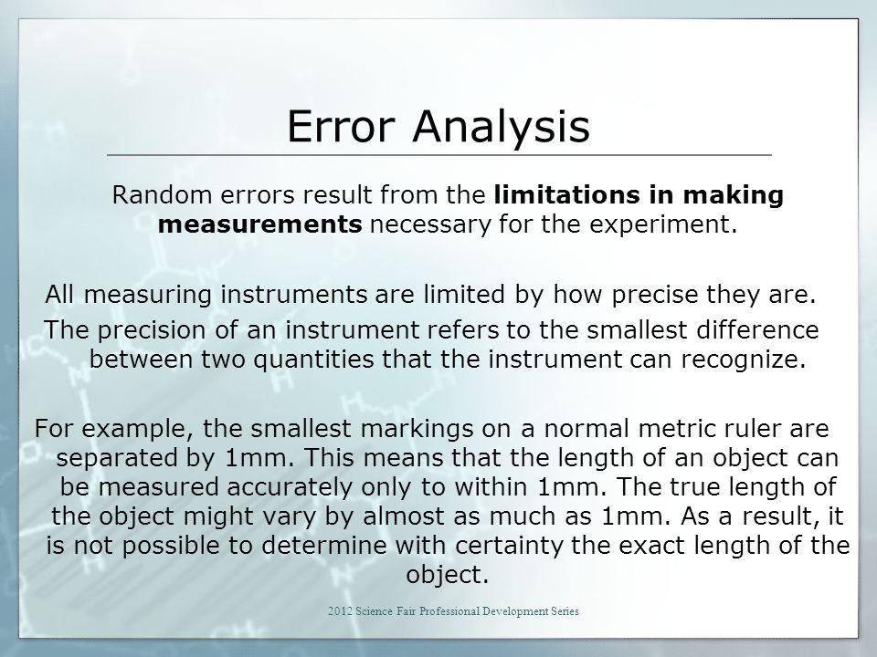 science fair analysis example