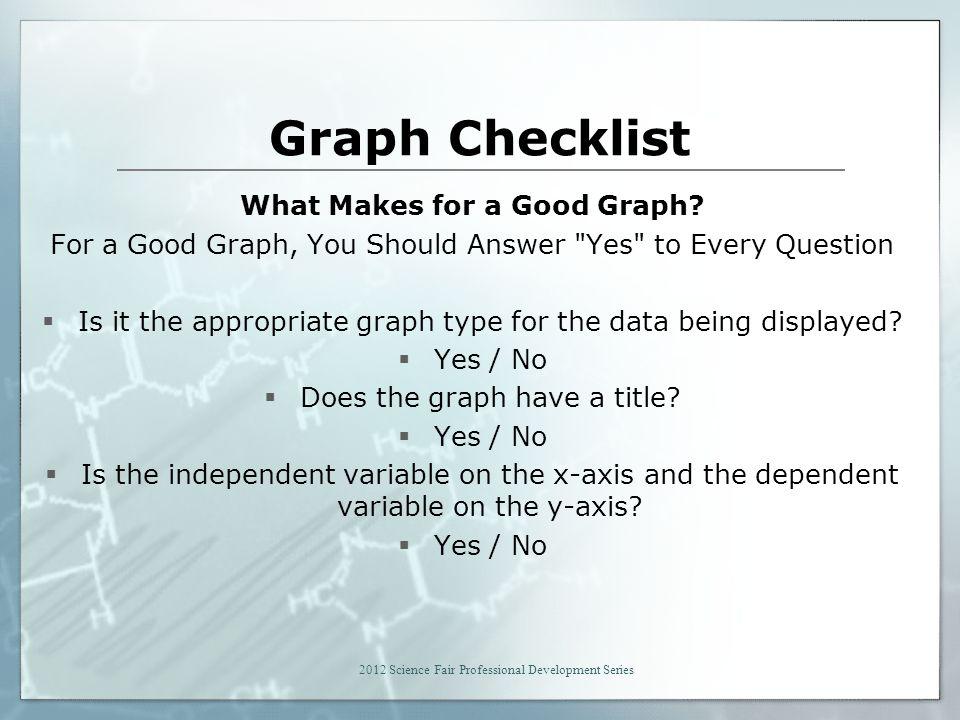 Graph Checklist What Makes for a Good Graph