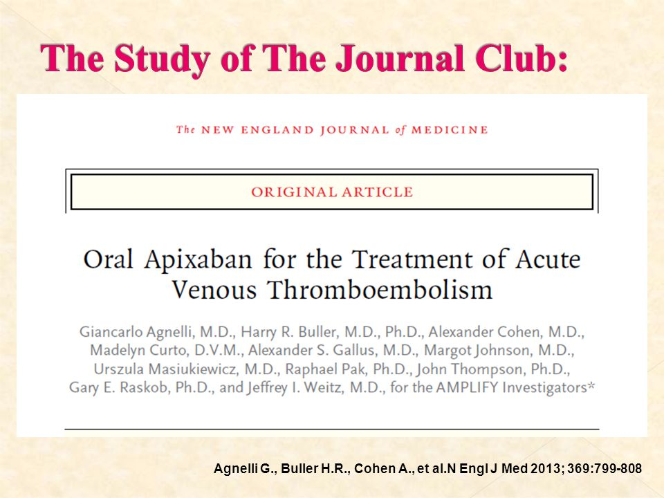 The Study of The Journal Club:
