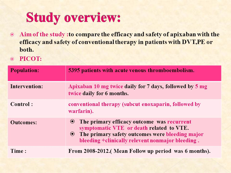 Study overview: