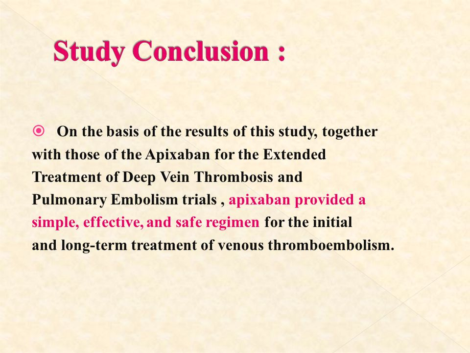 Study Conclusion : On the basis of the results of this study, together