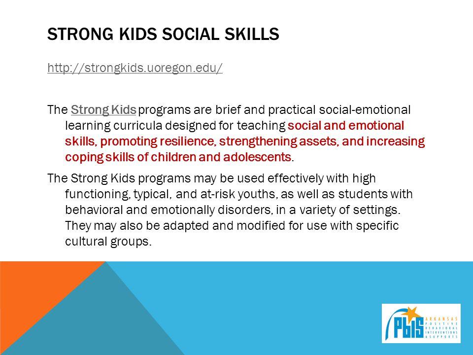 Strong kids social skills