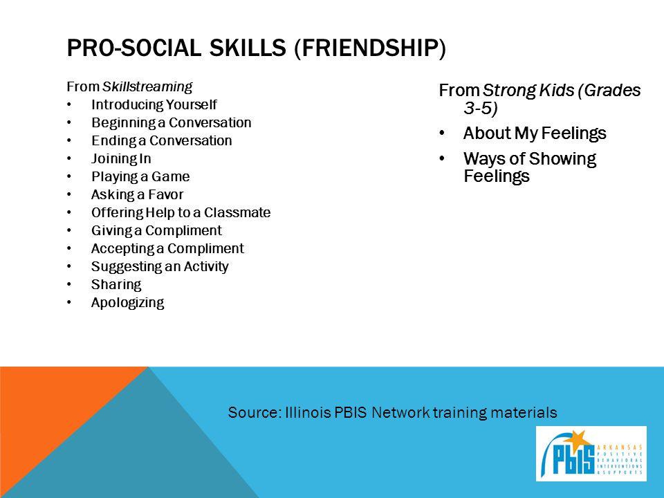 Pro-Social Skills (Friendship)