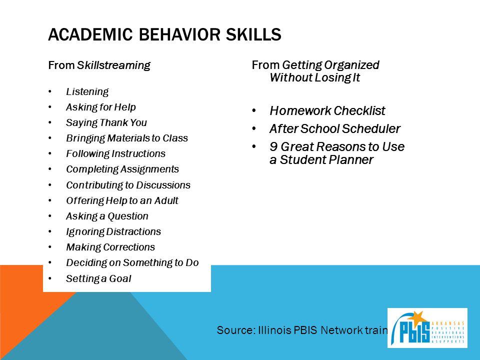 Academic Behavior Skills