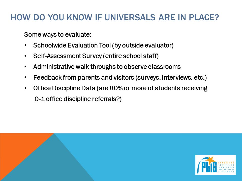 how do you know if universals are in place