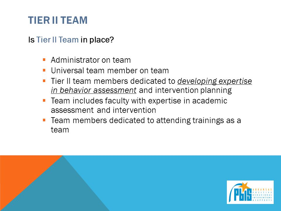 Tier ii Team Is Tier II Team in place Administrator on team