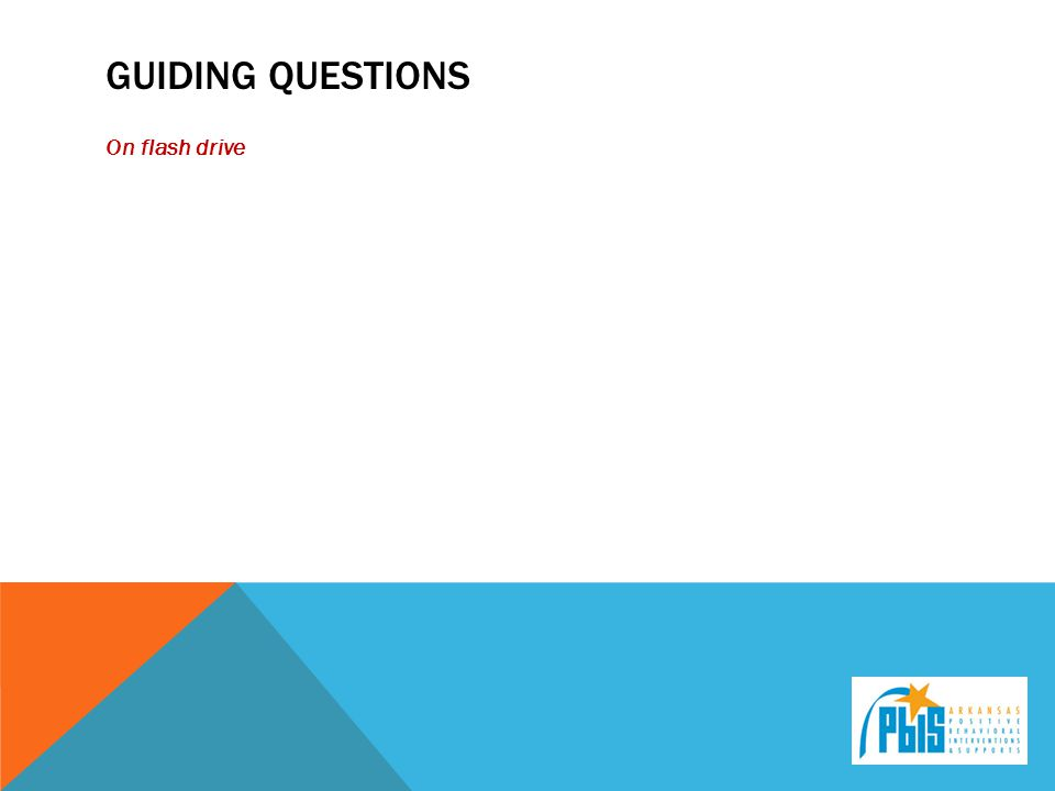Guiding questions On flash drive