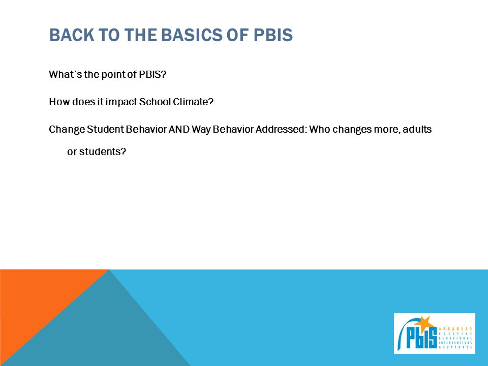 Back to the Basics of PBIS