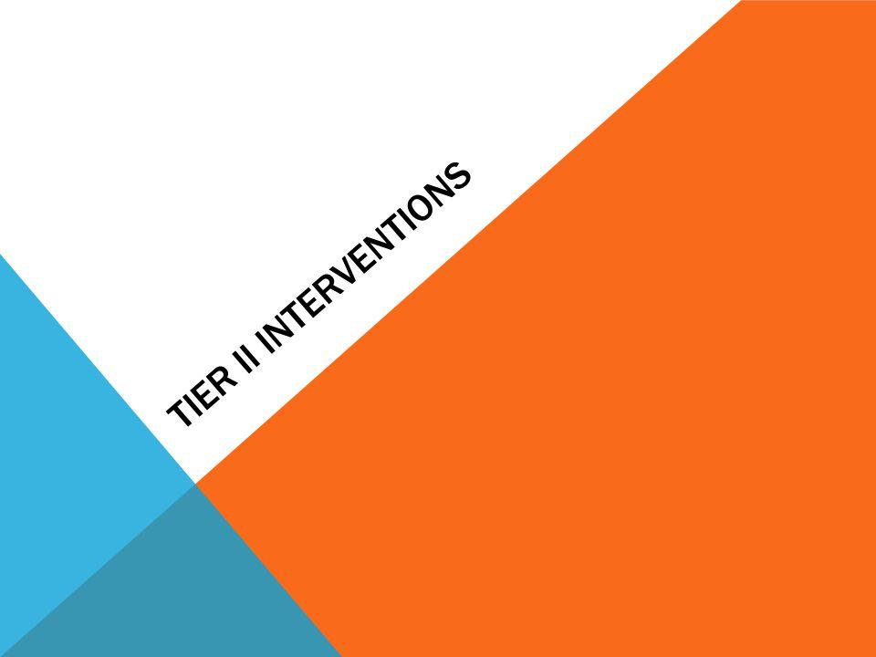 Tier II interventions