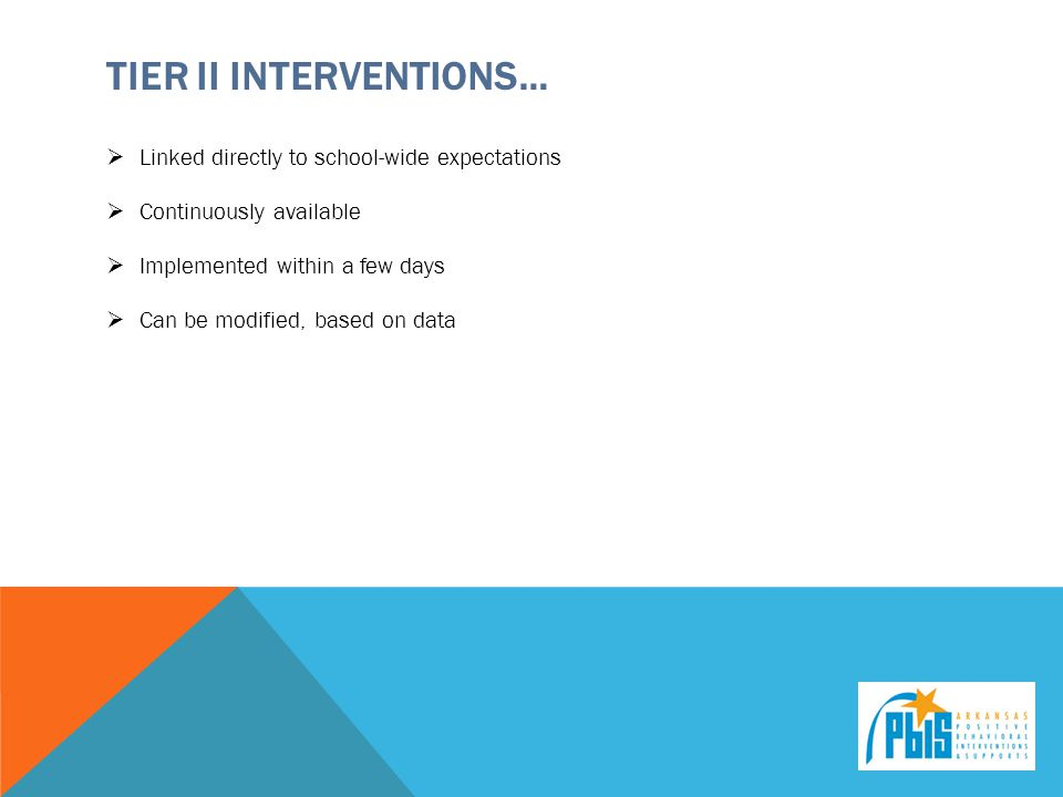 Tier ii Interventions…