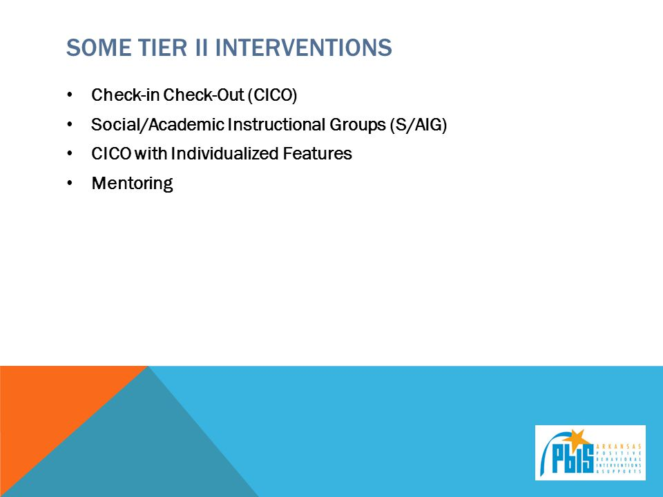 Some tier II interventions
