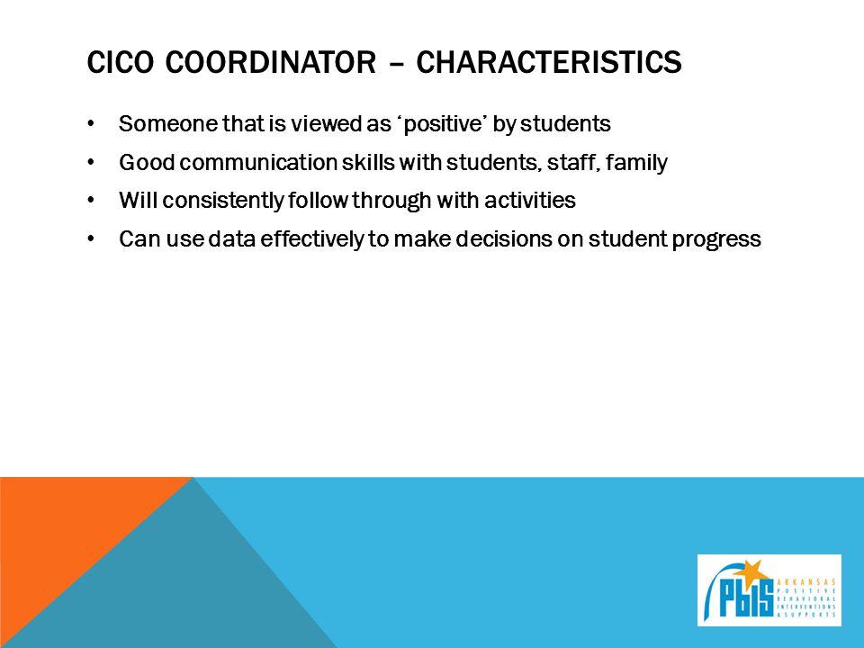 Cico coordinator – characteristics