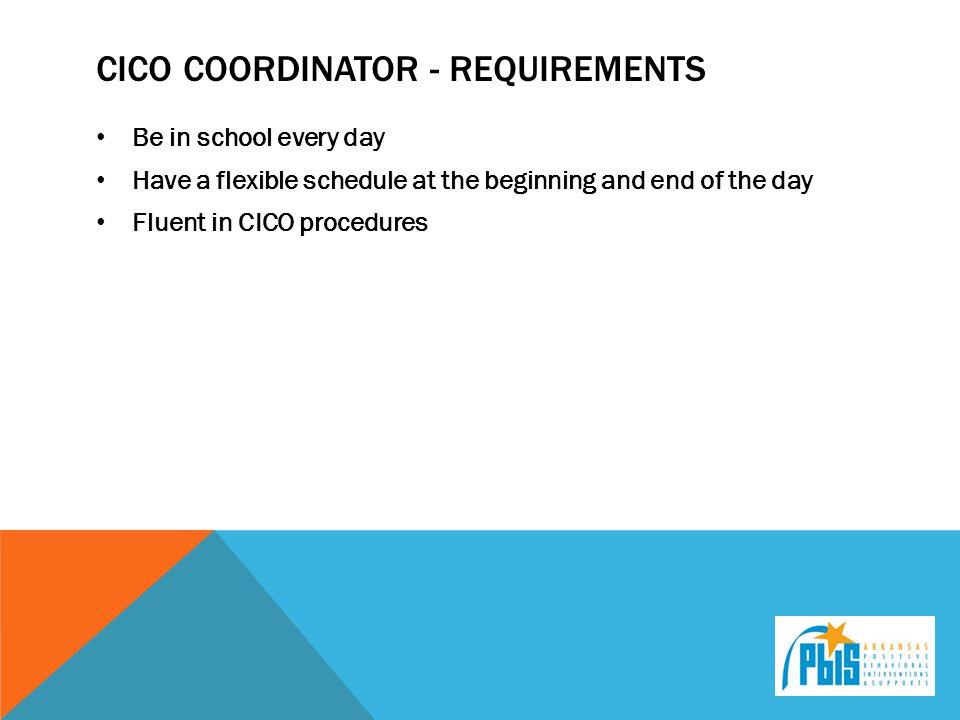 Cico coordinator - requirements