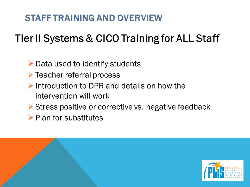 Staff Training and Overview