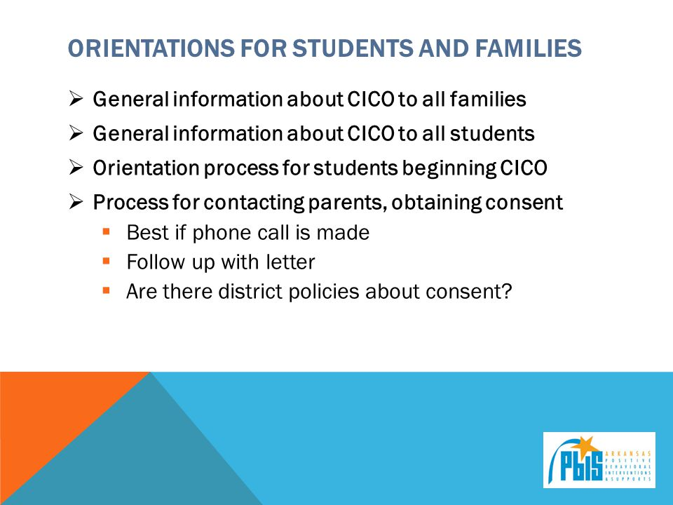 Orientations for Students and Families