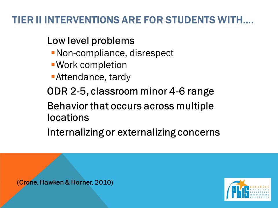 Tier ii interventions are for students with….
