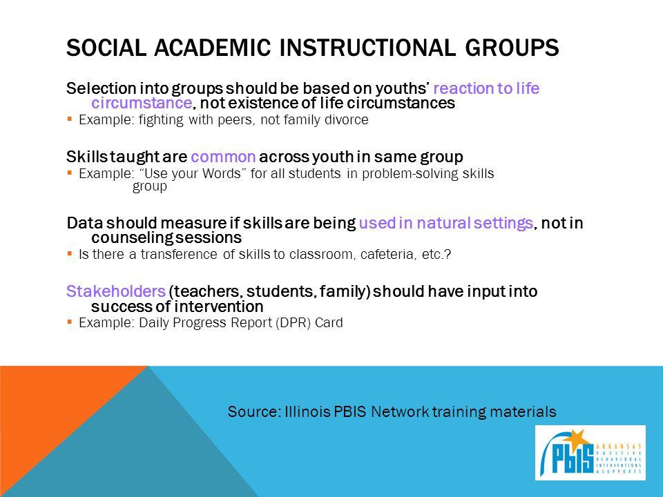 Social Academic Instructional Groups